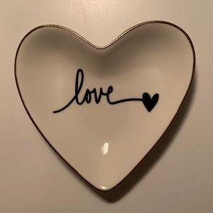 """Heart Shaped """"Love"""" Trinket Tray"""